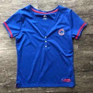 Chicago Cubs Majestic Deep V